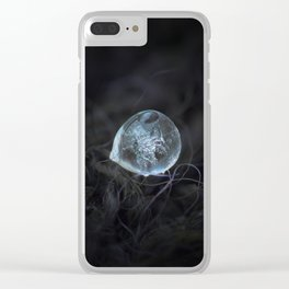 Drop of ice rain Clear iPhone Case