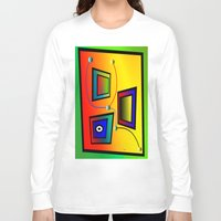 frames Long Sleeve T-shirts featuring Mysterious frames I by Horacio Moschini
