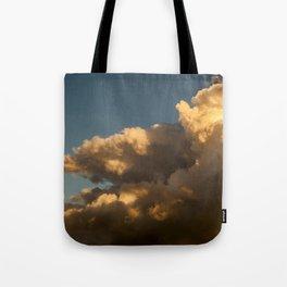 Clouds No.2 / Orange lightbeam Tote Bag