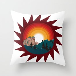 Into The Forest I Go Throw Pillow