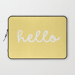 HELLO YELLOW Laptop Sleeve
