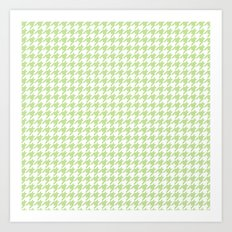 Green Houndstooth Pattern Art Print