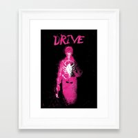 drive Framed Art Prints featuring Drive by Dan K Norris