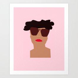 pastel pink #girlpower Art Print