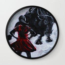 Fearless Girl Wall Clock