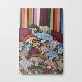 Colorful Mush Metal Print