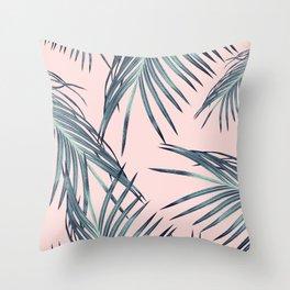Blush Palm Leaves Dream #1 #tropical #decor #art #society6 Throw Pillow