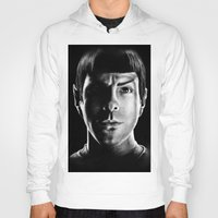 spock Hoodies featuring Spock by Sarah Riebe