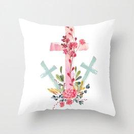 calvary floral Throw Pillow