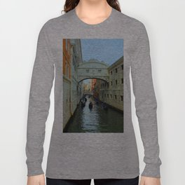 Bridge of Sighs, Venice, Italy,  in the late afternoon sun. Long Sleeve T-shirt