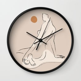 Nude 2 Wall Clock