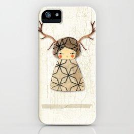 Deer paperdolls iPhone Case