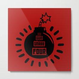 One, Two, Three, Four Metal Print