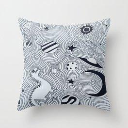 dinospace Throw Pillow