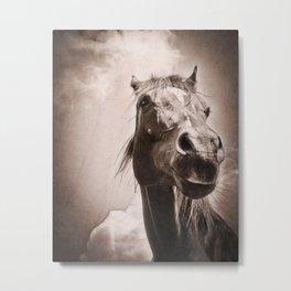 Regal Arabian Horse Spring Storm  Metal Print