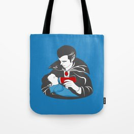 The Curious Case of a Baby Vampire Tote Bag