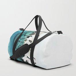 White Cranes Duffle Bag