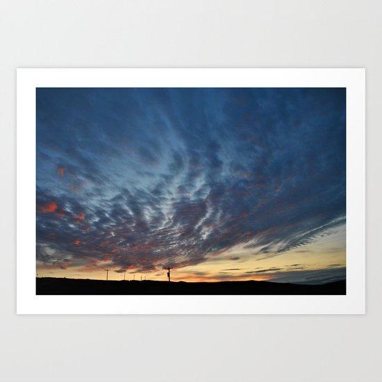 Midsummer Sunset, Bressay Art Print