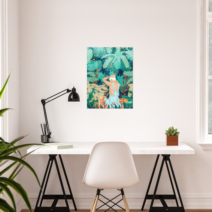 Backyard #illustration #painting Poster