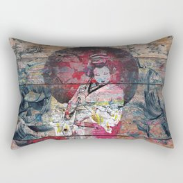 Airando Geisha (Island Woman) Rectangular Pillow