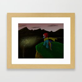 Hope Rides 20% More Alone Framed Art Print