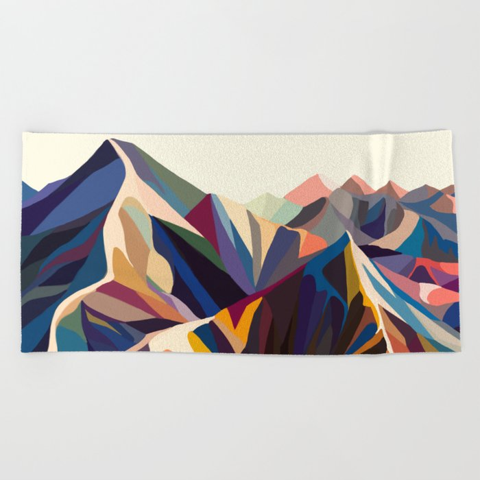 Mountains original Beach Towel