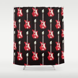 Airline Guitar Shower Curtain