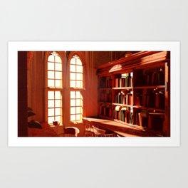 Oxford Library Render Art Print