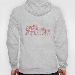 Floral Elephants Hoody