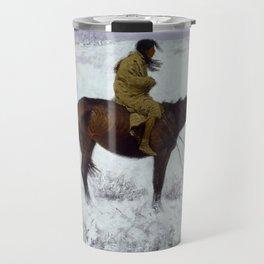 "Frederic Remington Western Art ""The Herd Boy"" Travel Mug"
