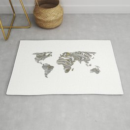 Marble World Map I Rug