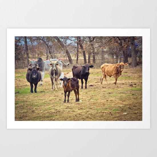 Texas. Art Print