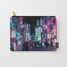 Heart Full Of Neon: Cyberpunk Overload Canvas Print Carry-All Pouch