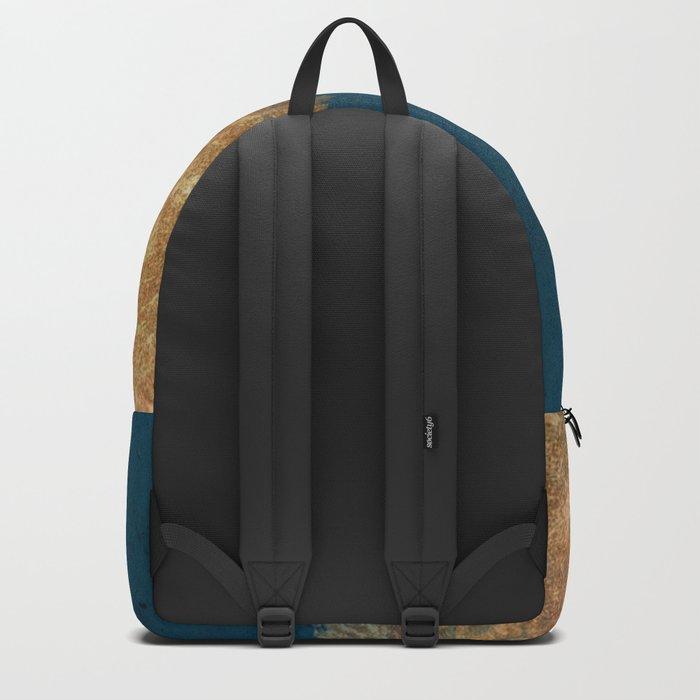 Denim Gold Paint Backpack