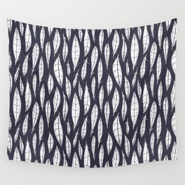 Quail Feathers (Midnight) Wall Tapestry
