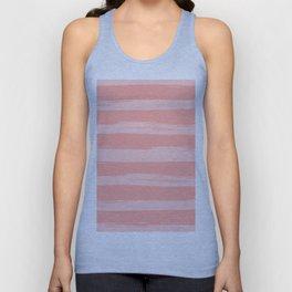 Rose Pink Stripes Design Unisex Tank Top