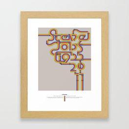 Steve Jobs. In Memoriam Framed Art Print