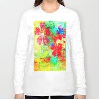 garden Long Sleeve T-shirts featuring Garden  by JuniqueStudio