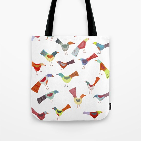 Birds doing bird things Tote Bag