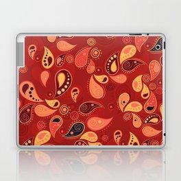 Red Paisley Laptop & iPad Skin