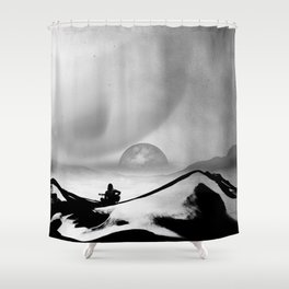 Black Space Song Shower Curtain