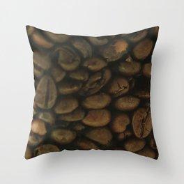 Coffee pattern, fine art photo, Coffeehouse, shops, bar & restaurants, still life, interior design Throw Pillow