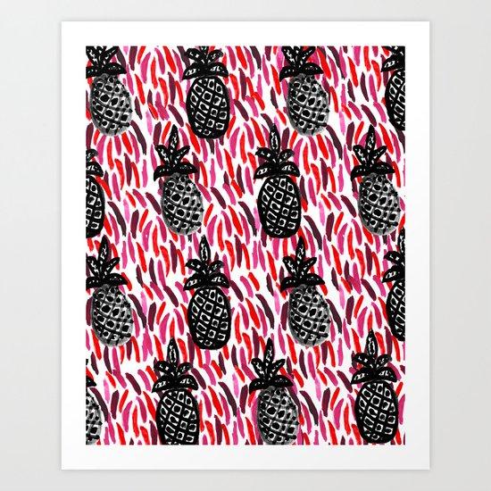 Weird Pineapples II Art Print