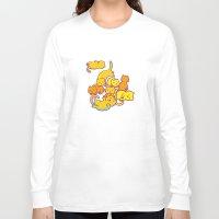cats Long Sleeve T-shirts featuring cats ! by parisian samurai studio