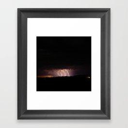 Strike Me Down Framed Art Print