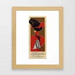 Golden Prague art nouveau Framed Art Print