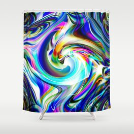 Abstract perfection - Circle 1 Shower Curtain