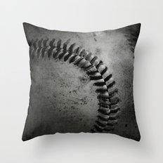 Black and white Baseball Throw Pillow