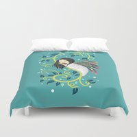 bjork Duvet Covers featuring Cocoon by Freeminds