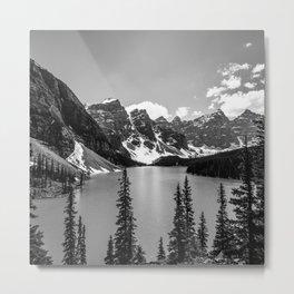 Moraine Lake | Black and White | Landscape Photography | Wildernest Metal Print